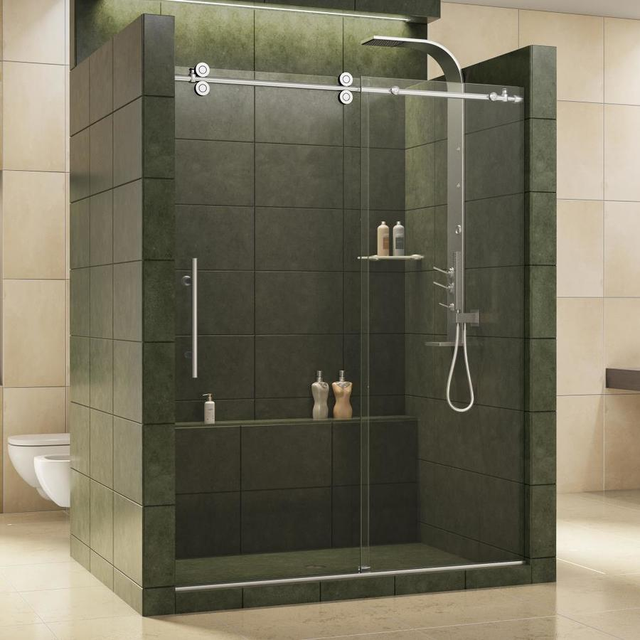 DreamLine Enigma 56-in to 60-in W x 79-in H Frameless Sliding Shower Door