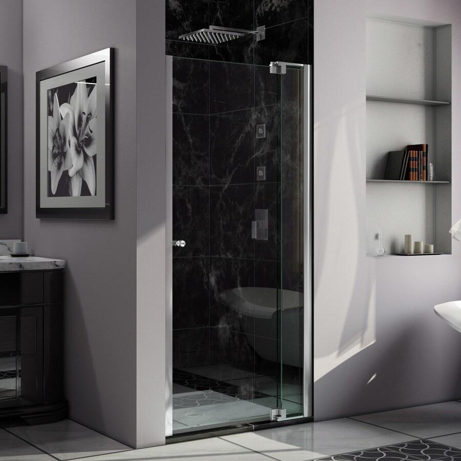DreamLine Allure 30-in to 31-in Polished Chrome Frameless Pivot Shower Door
