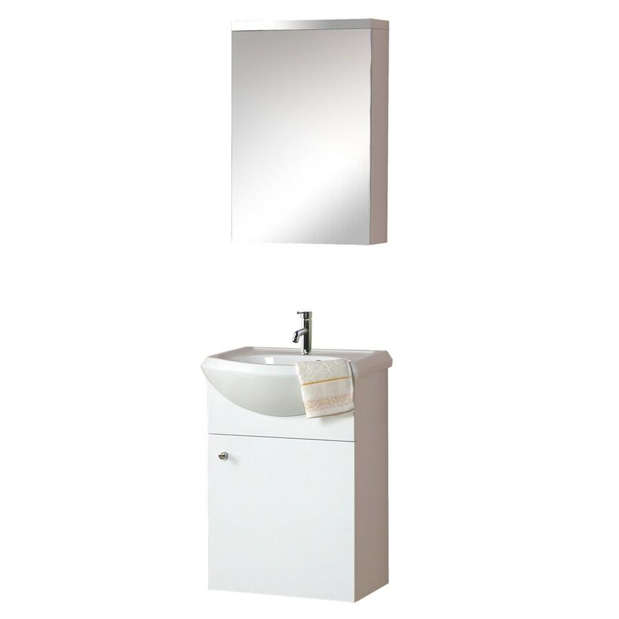 DreamLine Modern White Belly Bowl Single Sink Bathroom ...