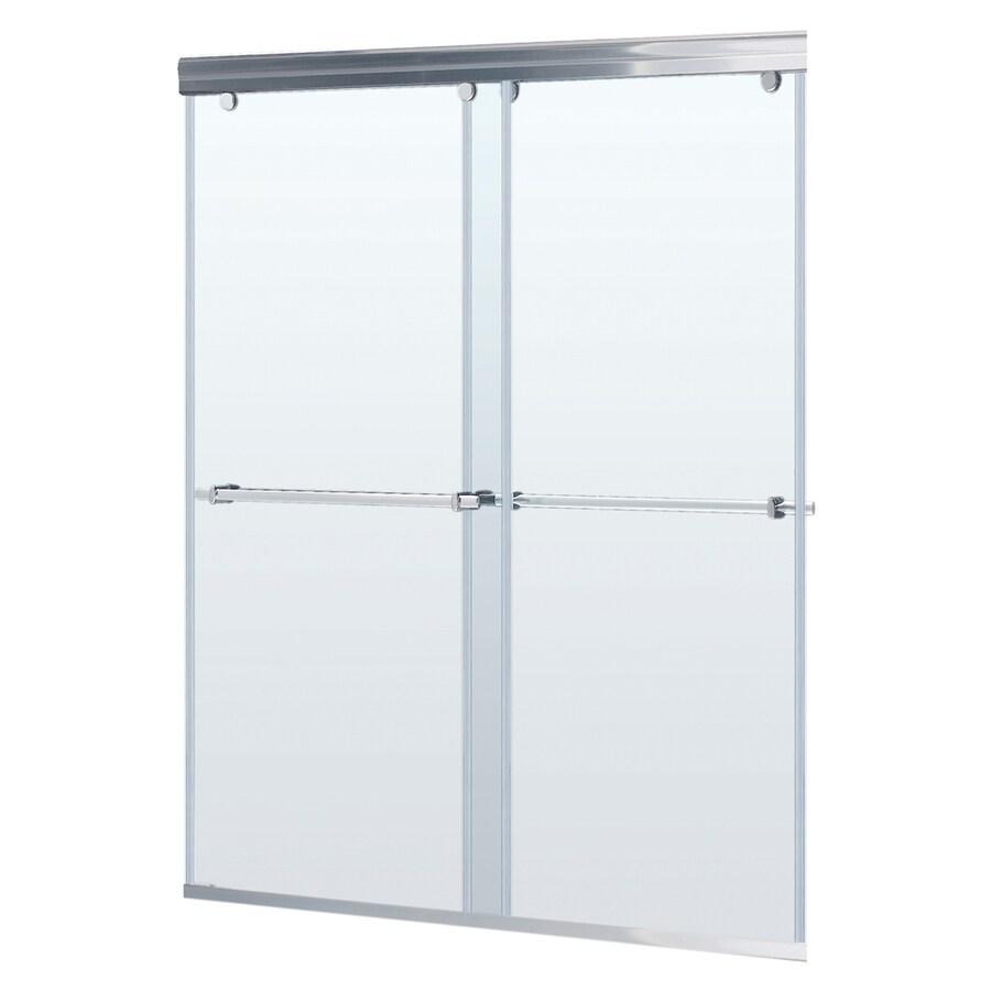 Frameless glass shower doors lowes for Lowes sliding glass doors