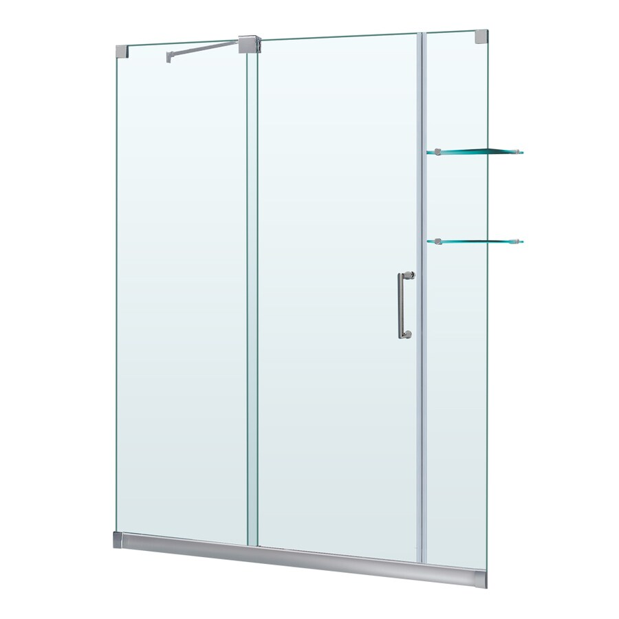 dreamline mirage 56in to 60in w x 72in h frameless - Dreamline Shower