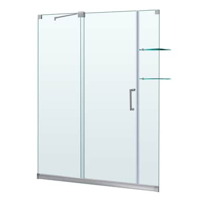 Sliding Shower Doors Lowes.Mirage 56 In To 60 In W X 72 In H Frameless Sliding Shower Door