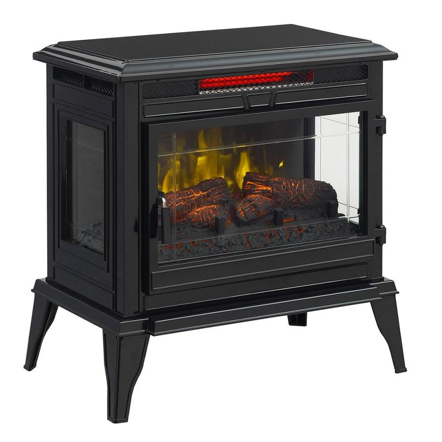 Mr Heater 25 In W 5100 Btu Black Metal Flat Wall Infrared Quartz Electric Stove Thermostat Remote Control Included In The Electric Stoves Department At Lowes Com