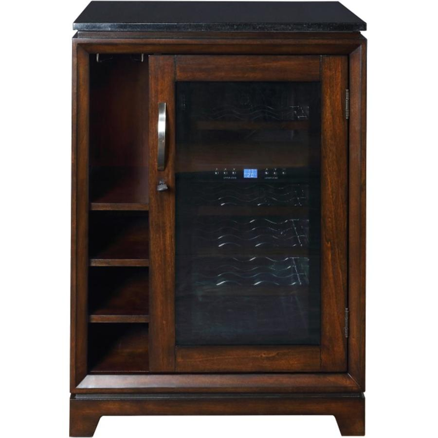 SCOTT LIVING 18-Bottle Marquis Birch Dual Zone Wine Chiller