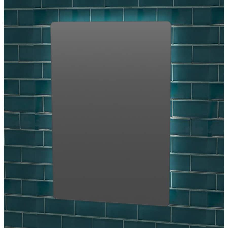 Scott Living Canterbury 24 In X 36 In Chrome Rectangular Frameless Bathroom  Mirror