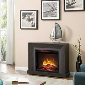 fireplaces at lowes com rh lowes com chimneyfree rolling mantel fireplace reviews Chimney Free Infrared Quartz Fireplace