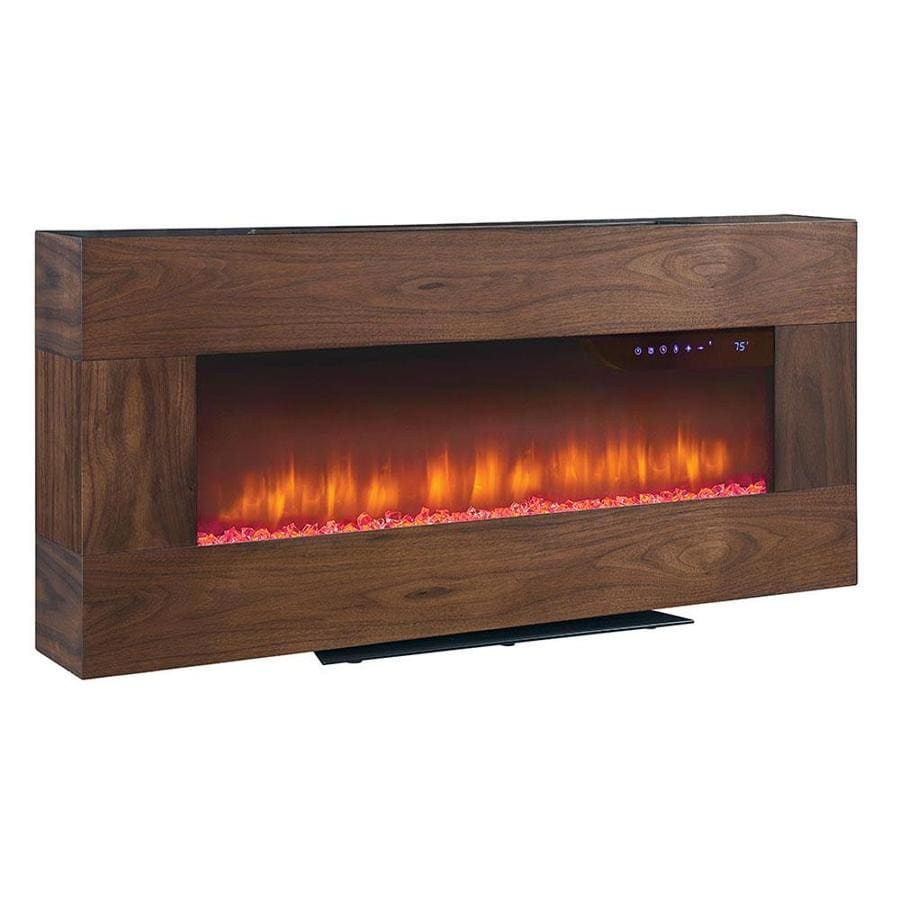 Scott Living 41 in W 4600 BTU Walnut Metal Wall mount Infrared QuartzShop Electric Fireplaces at Lowes com. Electric Wall Fireplace Heaters. Home Design Ideas