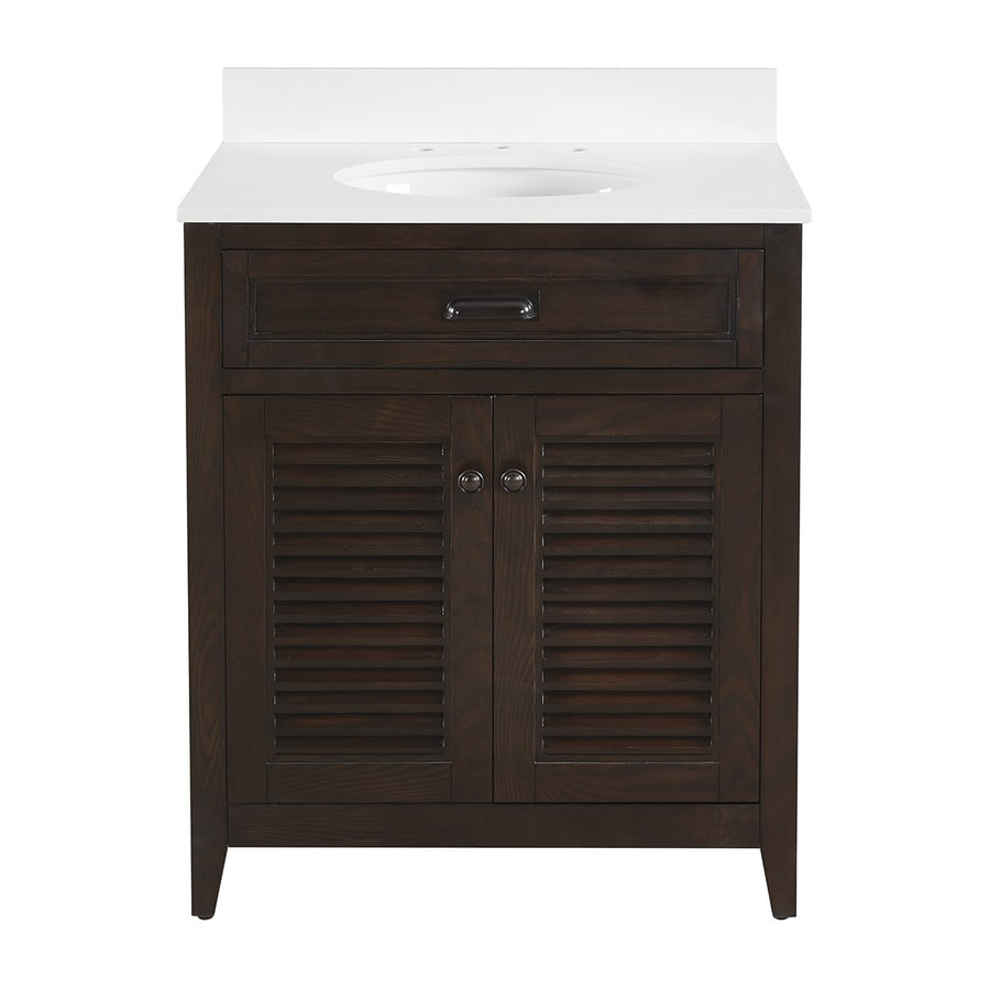 Scott Living Kinston Mocha Undermount Single Sink Bathroom Vanity with  Engineered Stone Top  Common Shop Bathroom Vanities with Tops at Lowes com. 32 Inch Bathroom Vanity. Home Design Ideas