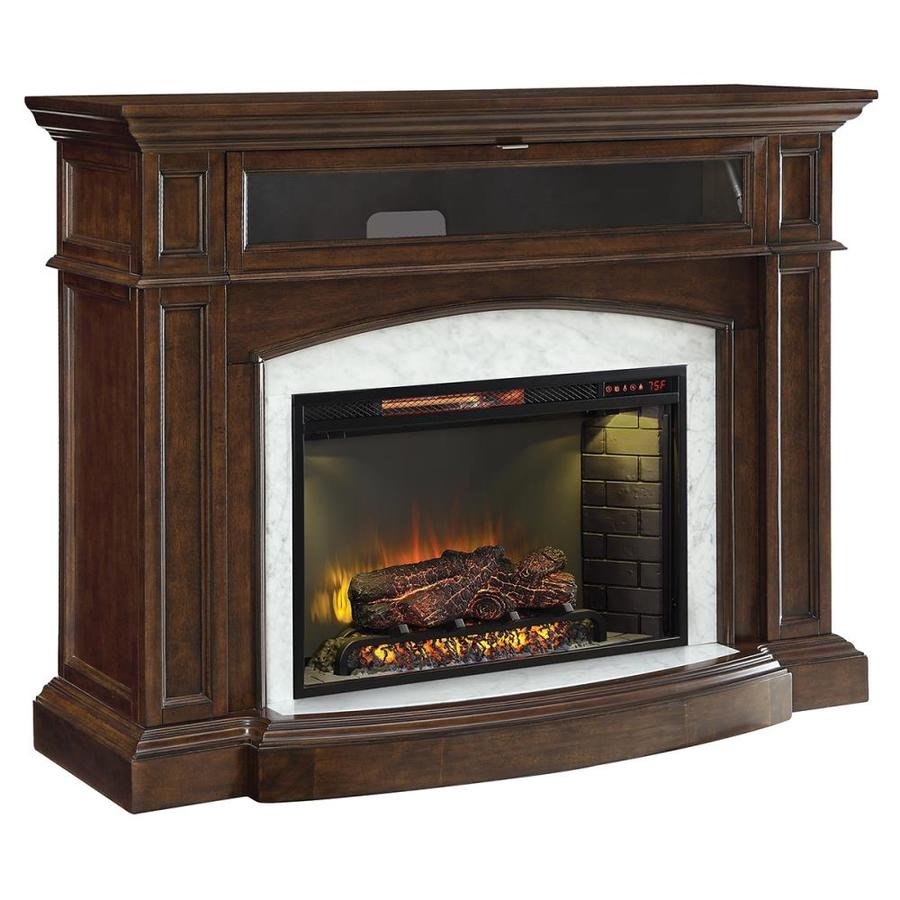 Scott Living 52.5-in W 5100-BTU Mahogany Wood Corner Or ...