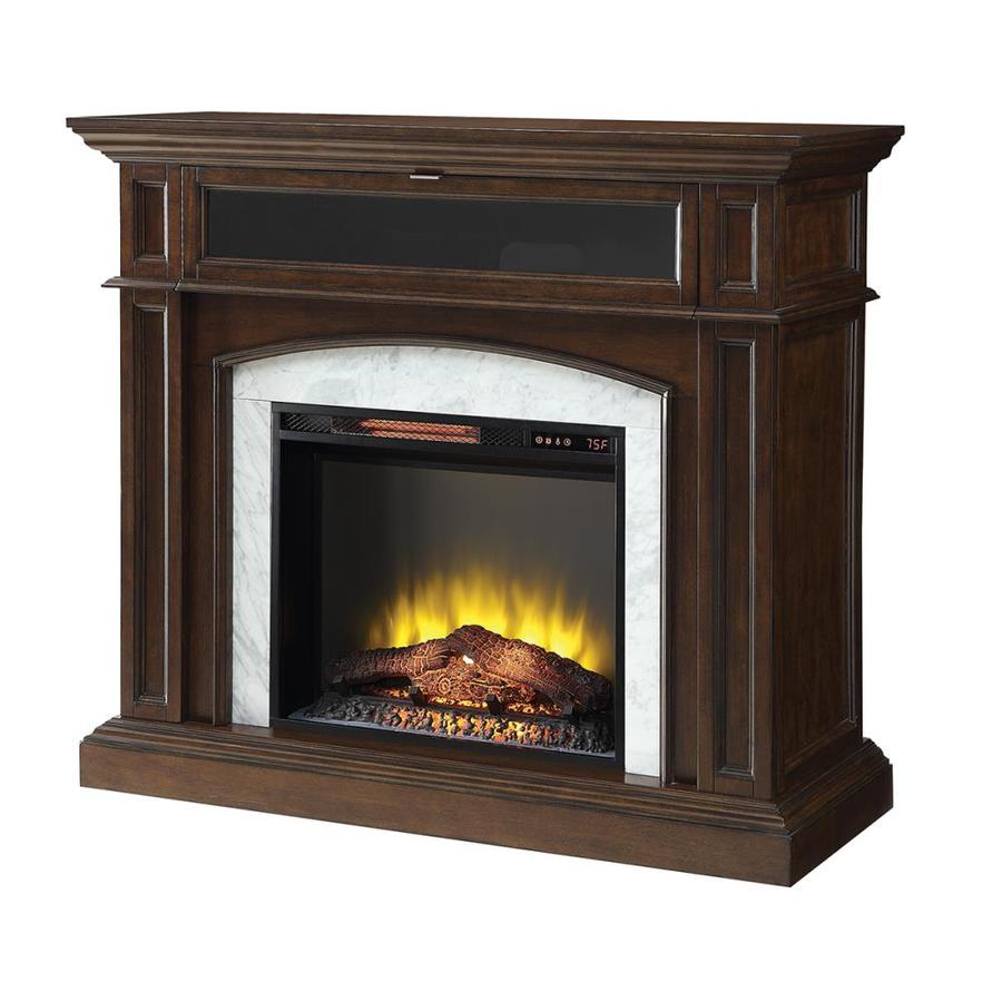 Scott Living 46 5 In W 5100 Btu Mahogany Wood Corner Or