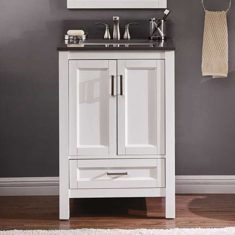 Scott Living Durham 24 In White Oak Single Sink Bathroom Vanity With