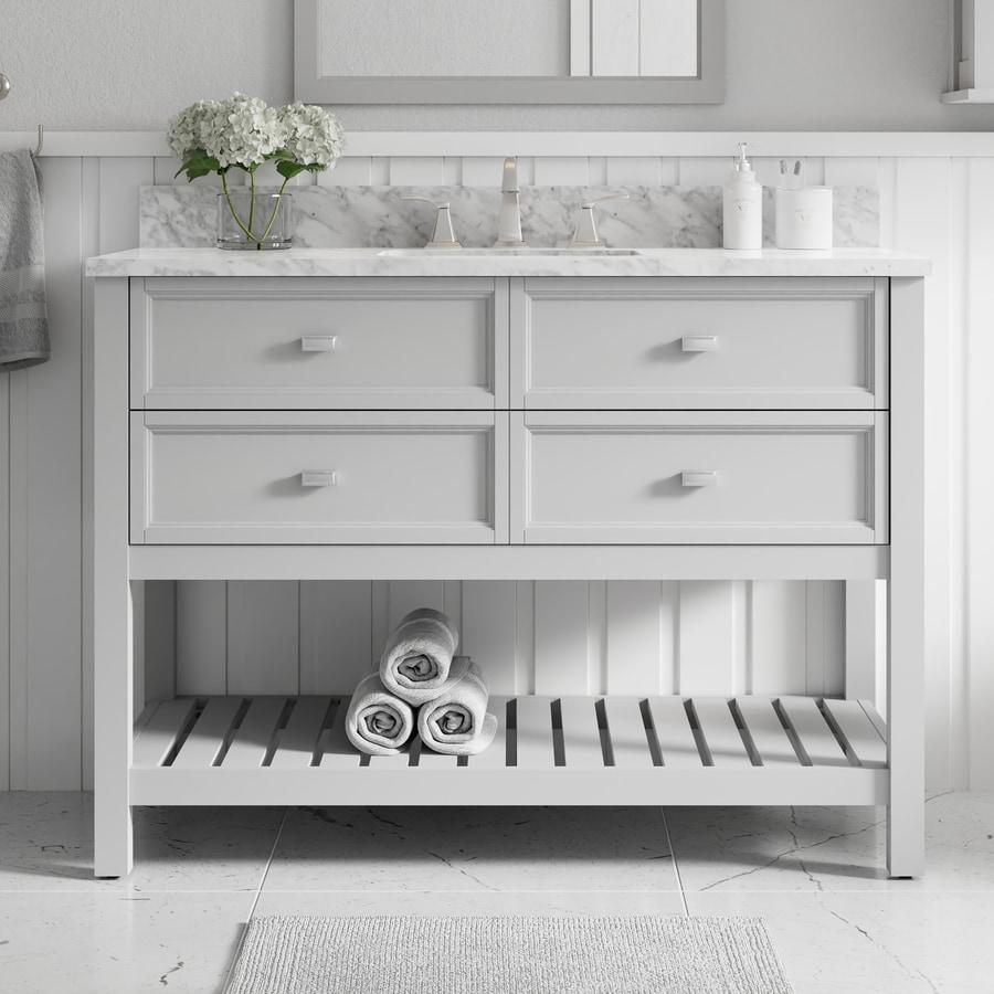 Shop Scott Living Canterbury Light Gray Undermount Single Sink Bathroom Vanity With Natural