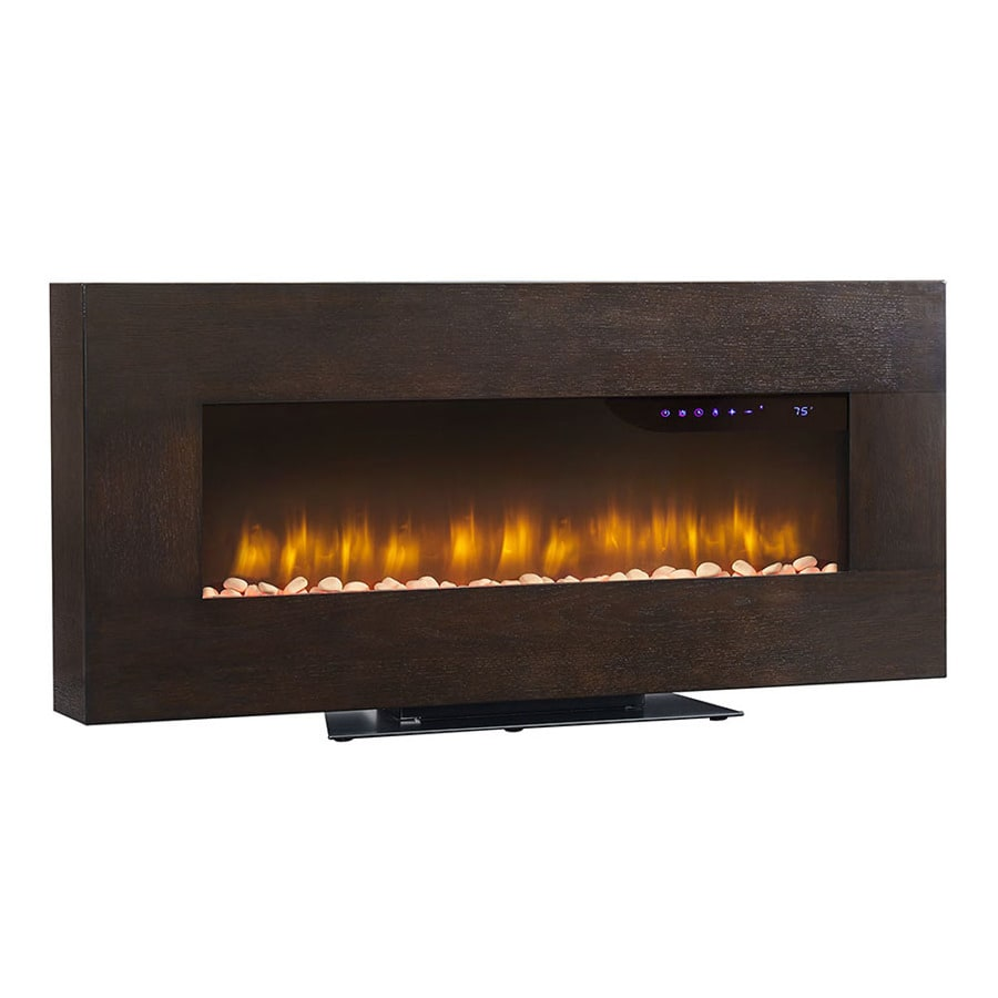 Scott Living 41-in W 4600-BTU Espress Oak Metal Wall-mount Infrared Quartz Electric Fireplace