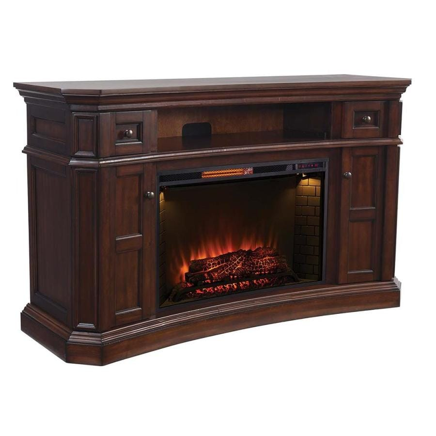 Scott Living 66-in W 5100-BTU Marquis birch flnish Metal Flat Wall Infrared Quartz Electric Fireplace Media Mantel