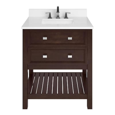 Canterbury Brown Bathroom Vanities With Tops At Lowes Com