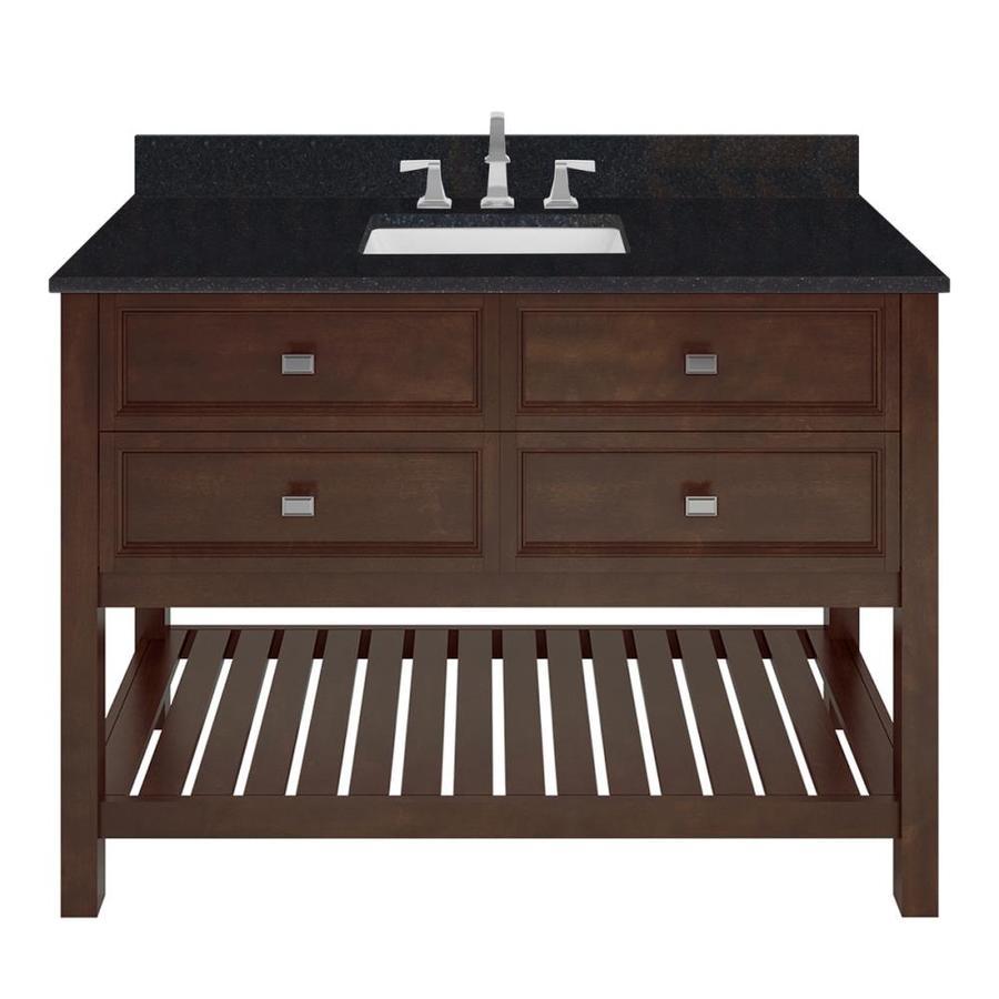 Shop Scott Living Canterbury Mahogany Undermount Single Sink Bathroom Vanity With Granite Top