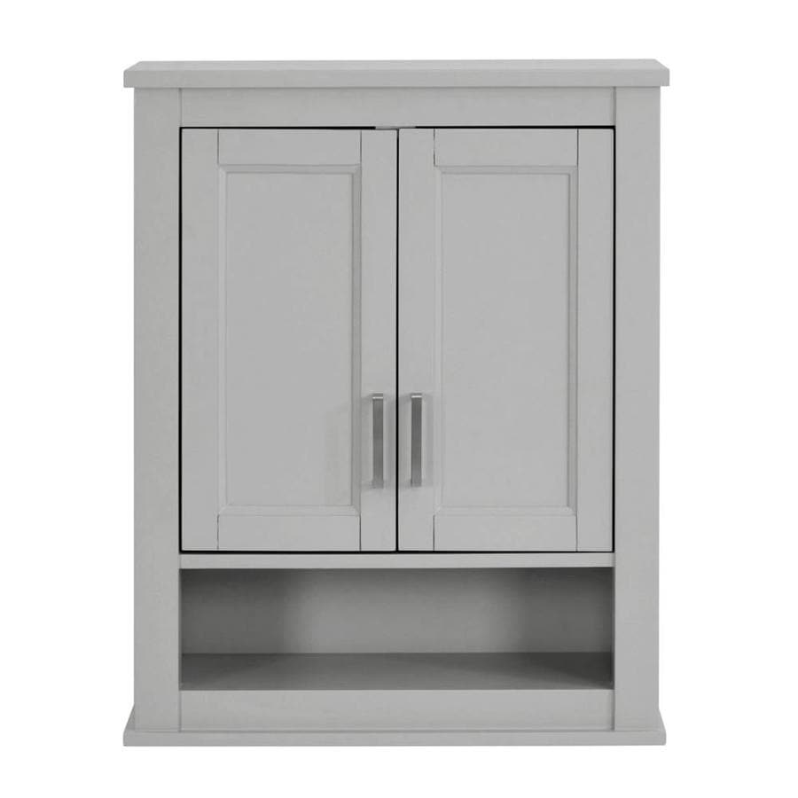 grey bathroom wall cabinet shop living durham 24 in w x 30 in h x 10 in d light 16074