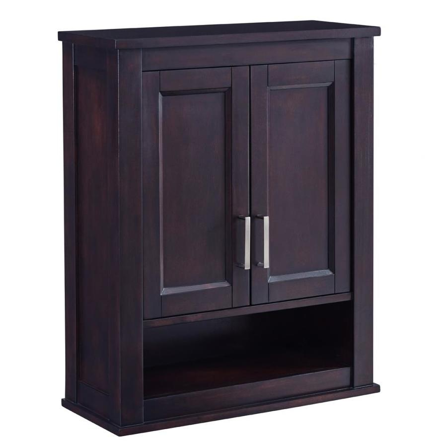 bathroom wall cabinets espresso shop living durham 24 in w x 30 in h x 10 in d 17101