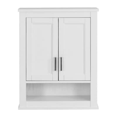 Durham 24 In W X 30 H 10 D White Oak Bathroom Wall Cabinet
