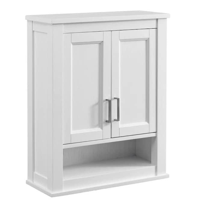 Durham 24 In W X 30 In H X 10 In D White Oak Bathroom Wall Cabinet In The Bathroom Wall Cabinets Department At Lowes Com