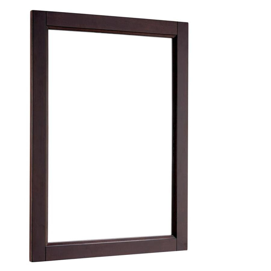 Shop Scott Living Durham 22 In X 30 In Espresso Rectangular Framed Bathroom Mirror At