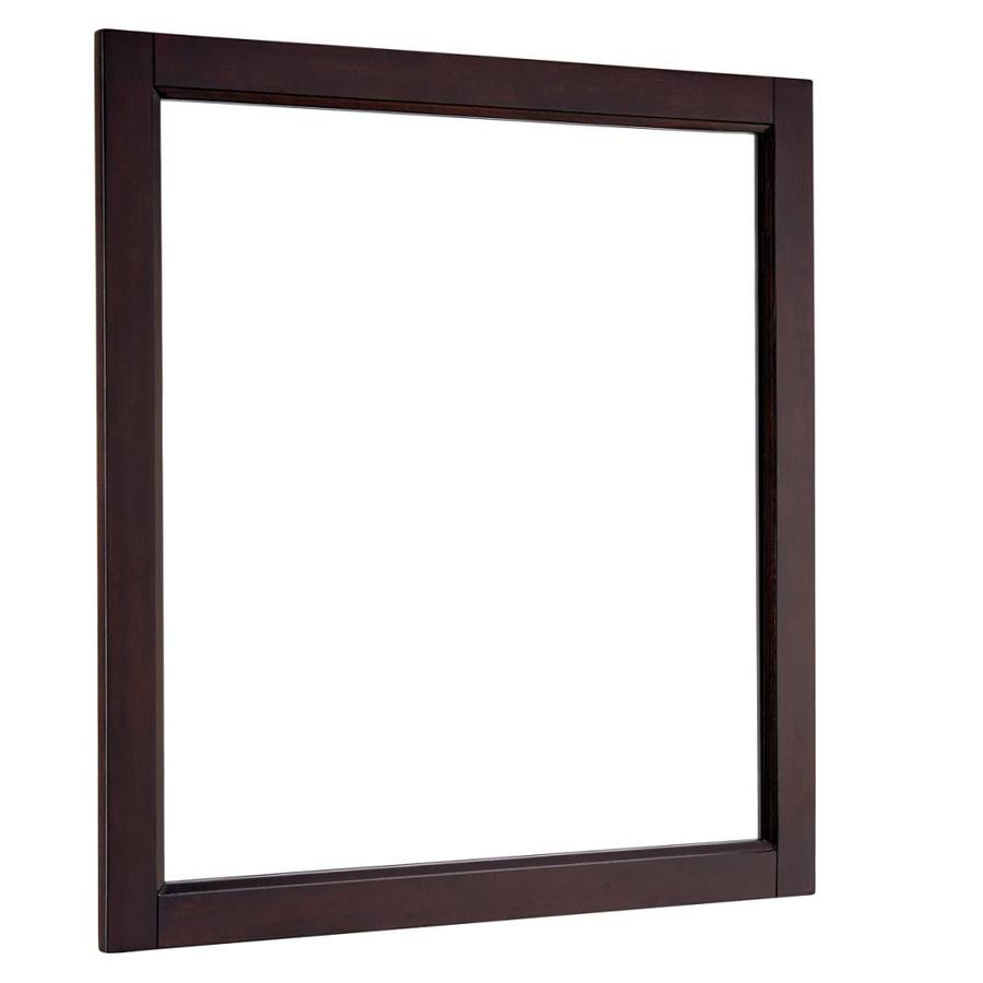Shop Scott Living Durham 28 In X 30 In Espresso Rectangular Framed Bathroom Mirror At
