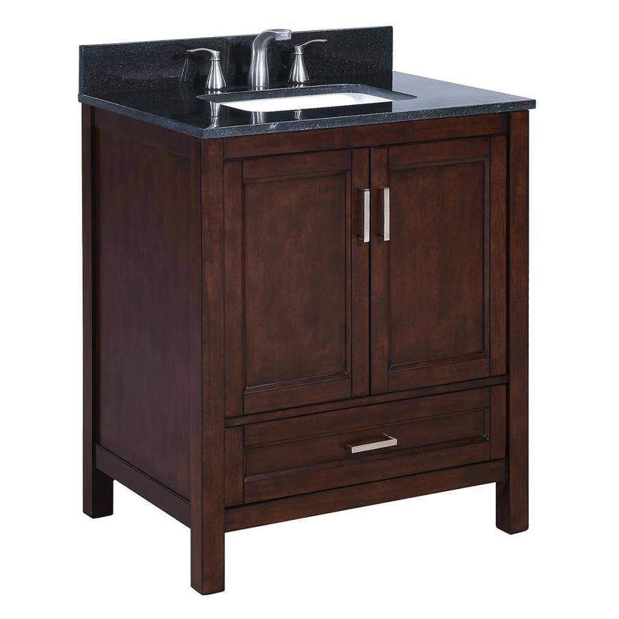 Shop Scott Living Durham Chocolate Undermount Single Sink Bathroom Vanity With Granite Top