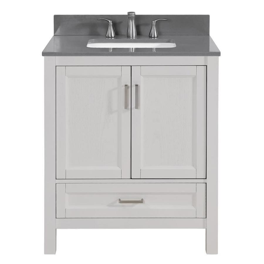 Scott Living Durham 30 In White Oak Single Sink Bathroom Vanity With