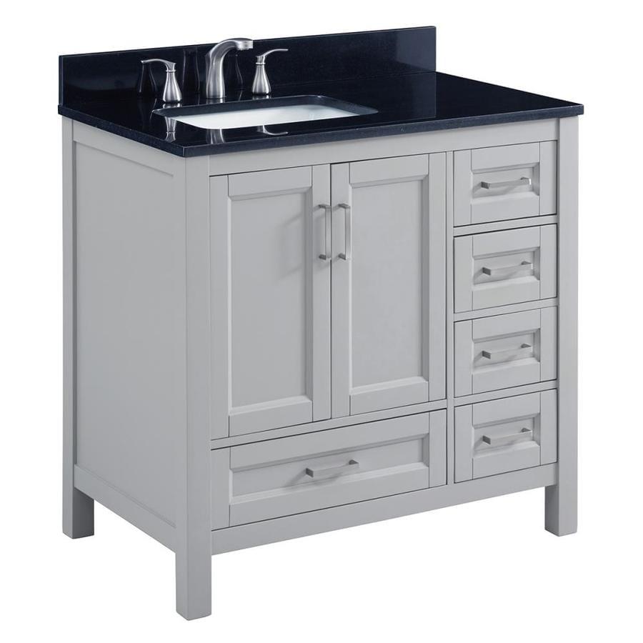 Shop Scott Living Durham Light Gray Undermount Single Sink Bathroom Vanity With Granite Top