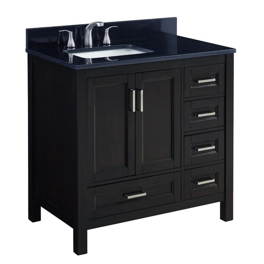 Scott Living Durham 36-in Espresso Single Sink Bathroom ...