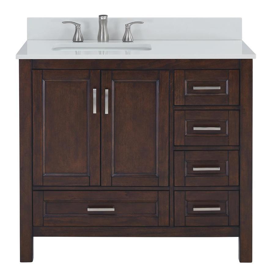 Scott Living Durham Chocolate Undermount Single Sink Bathroom Vanity with Engineered Stone Top (Common: 36-in x 22-in; Actual: 36-in x 22-in)