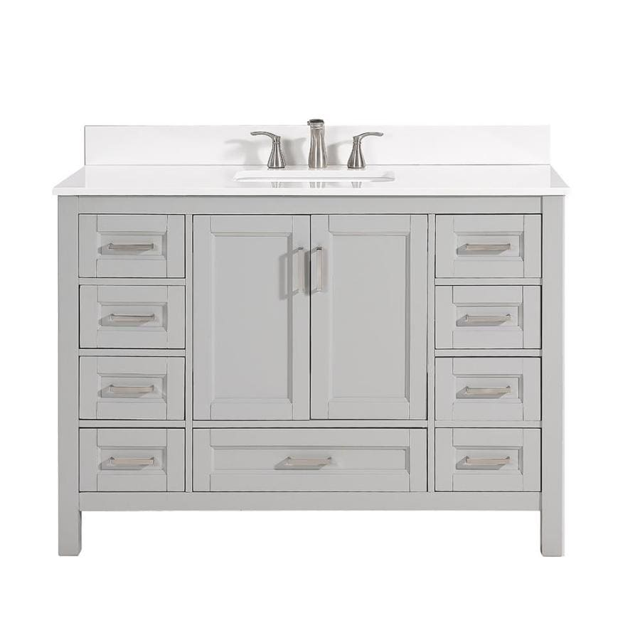 Scott Living Durham Cool Gray Undermount Single Sink Bathroom Vanity with Engineered Stone Top (Common: 48-in x 22-in; Actual: 48-in x 22-in)