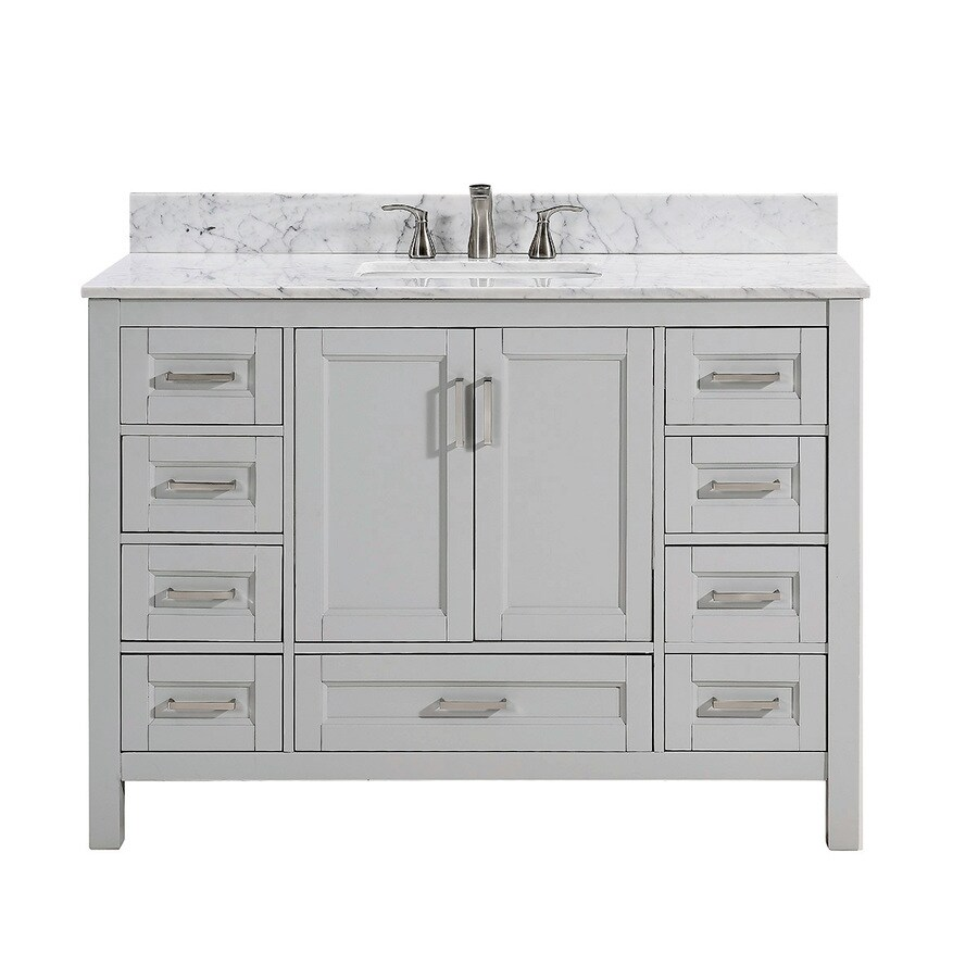 Shop Scott Living Durham Light Gray Single Sink Vanity