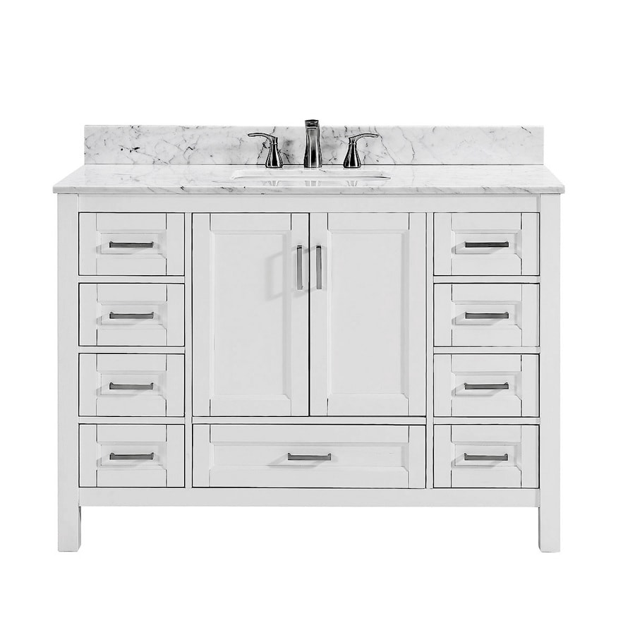 double sink vanity white. Scott Living Durham White Undermount Single Sink Bathroom Vanity with  Natural Marble Top Common Shop Vanities at Lowes com