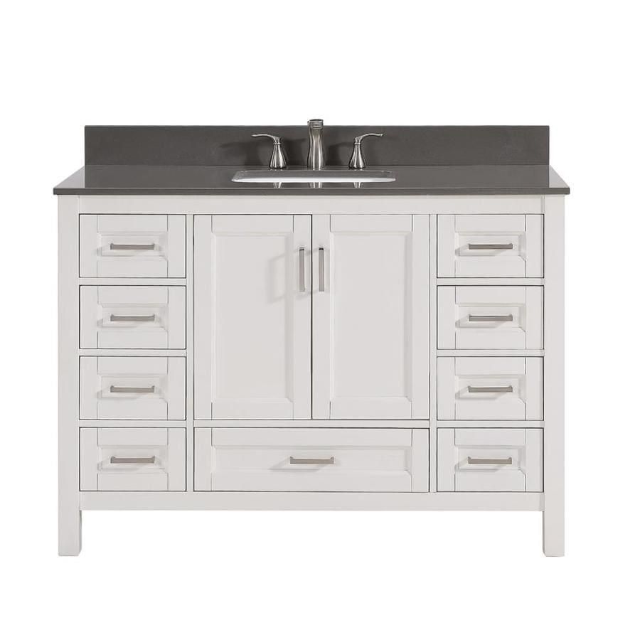 Shop Scott Living Durham White Undermount Single Sink Bathroom Vanity With Engineered Stone Top