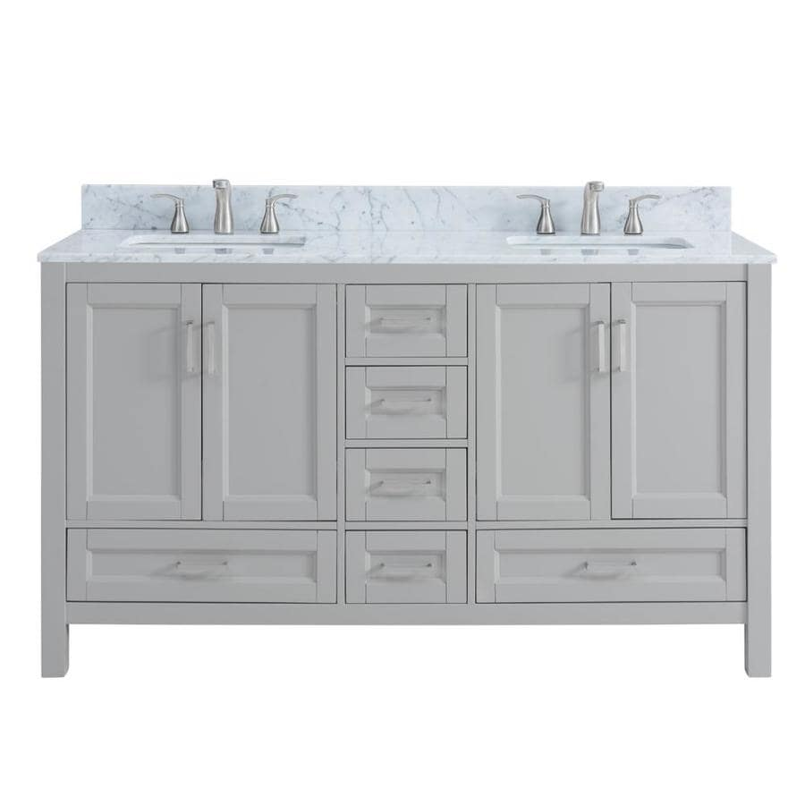 Light Gray Bathroom Vanity. Scott Living Durham Light Gray Undermount Double Sink Bathroom Vanity with  Natural Marble Top Common Shop