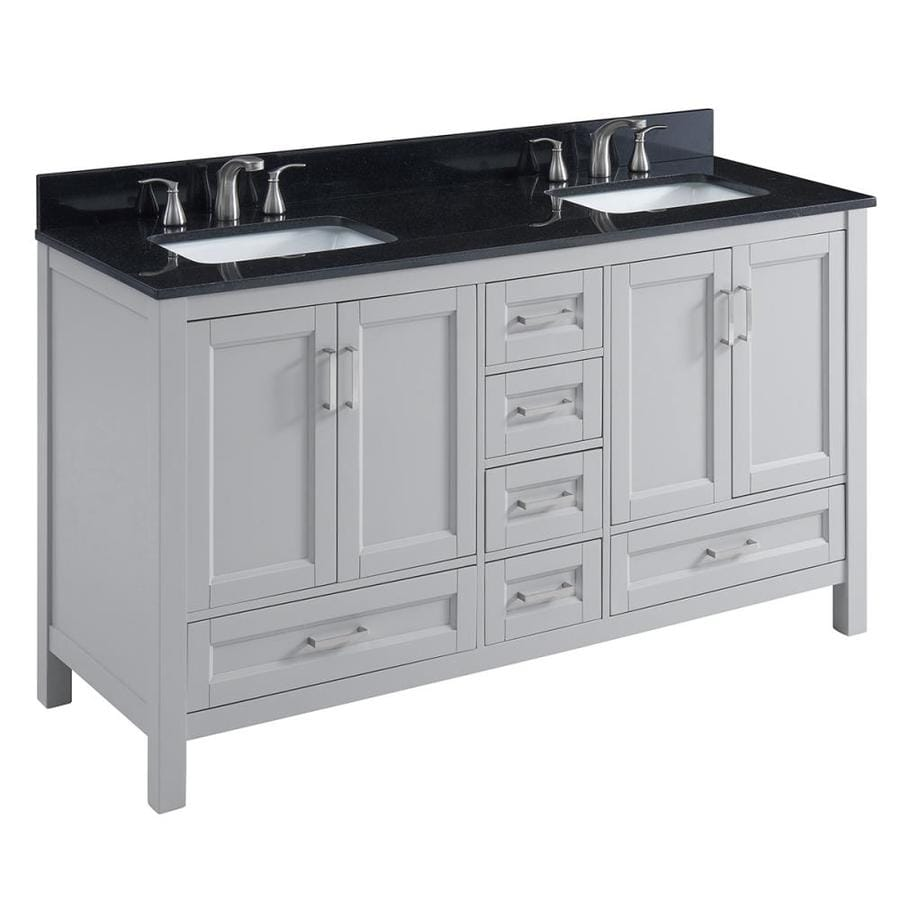 Shop scott living durham light gray undermount double sink for Light grey granite sink