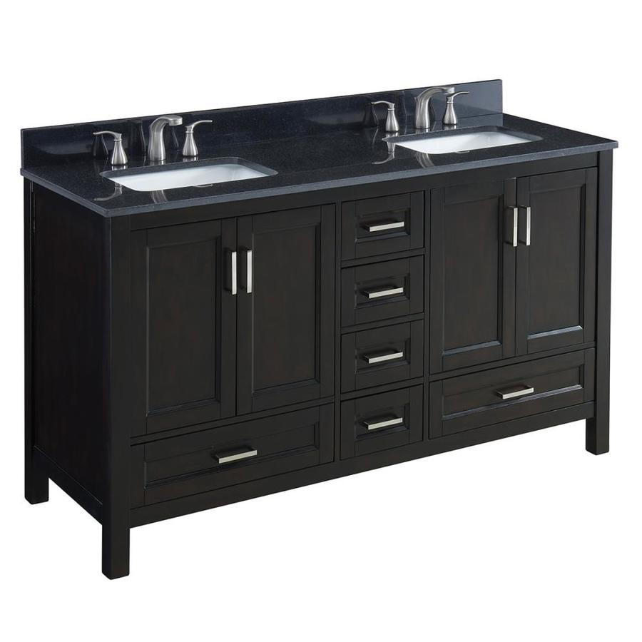 60 double sink vanity with granite top. Scott Living Durham Espresso Undermount Double Sink Bathroom Vanity with  Granite Top Common 60 Shop