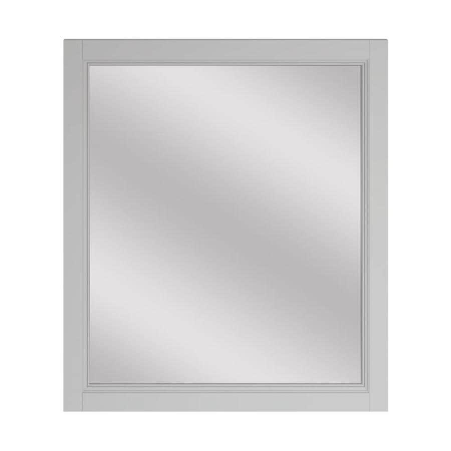 Scott Living Canterbury 28-in x 30-in Light Gray Rectangular Framed Bathroom Mirror