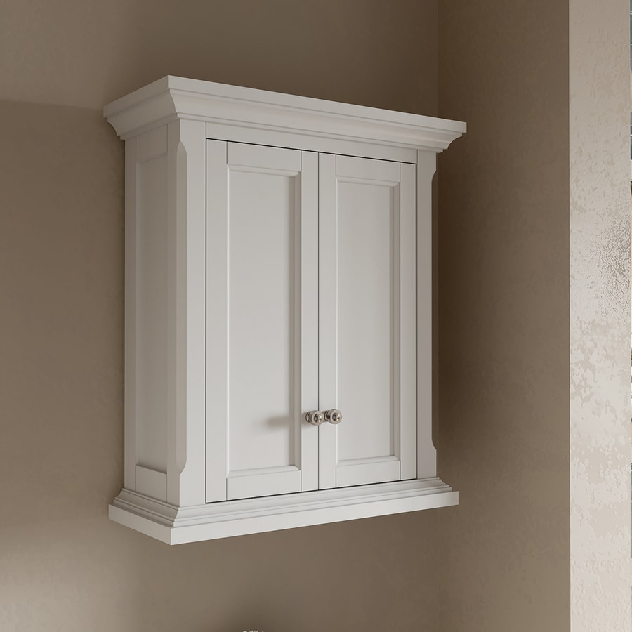 bathroom wall cabinets uk shop allen roth roveland 24 in w x 28 in h x 10 in d 11856