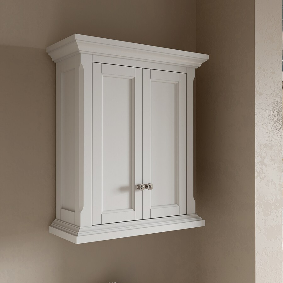 bathroom white wall cabinet shop allen roth roveland 24 in w x 28 in h x 10 in d 11884
