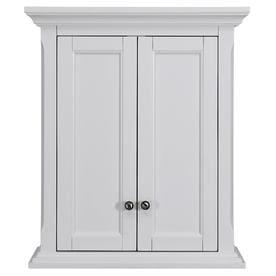 bathroom wall cabinet white. allen  roth Roveland 24 in W x 28 H 10 Shop Bathroom Wall Cabinets at Lowes com