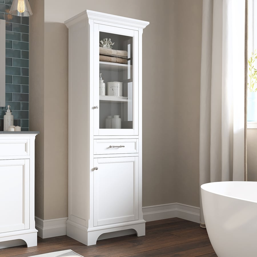 cabinet large bathroom big linen white pantry wide inch for
