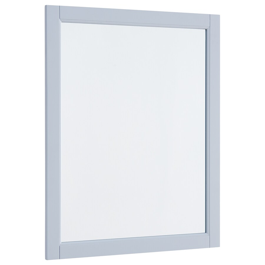 Scott Living Roveland 24-in Light Gray Rectangular Bathroom Mirror At Lowes.com