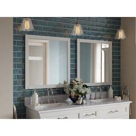 White Rectangular Bathroom Mirrors At Lowes Com