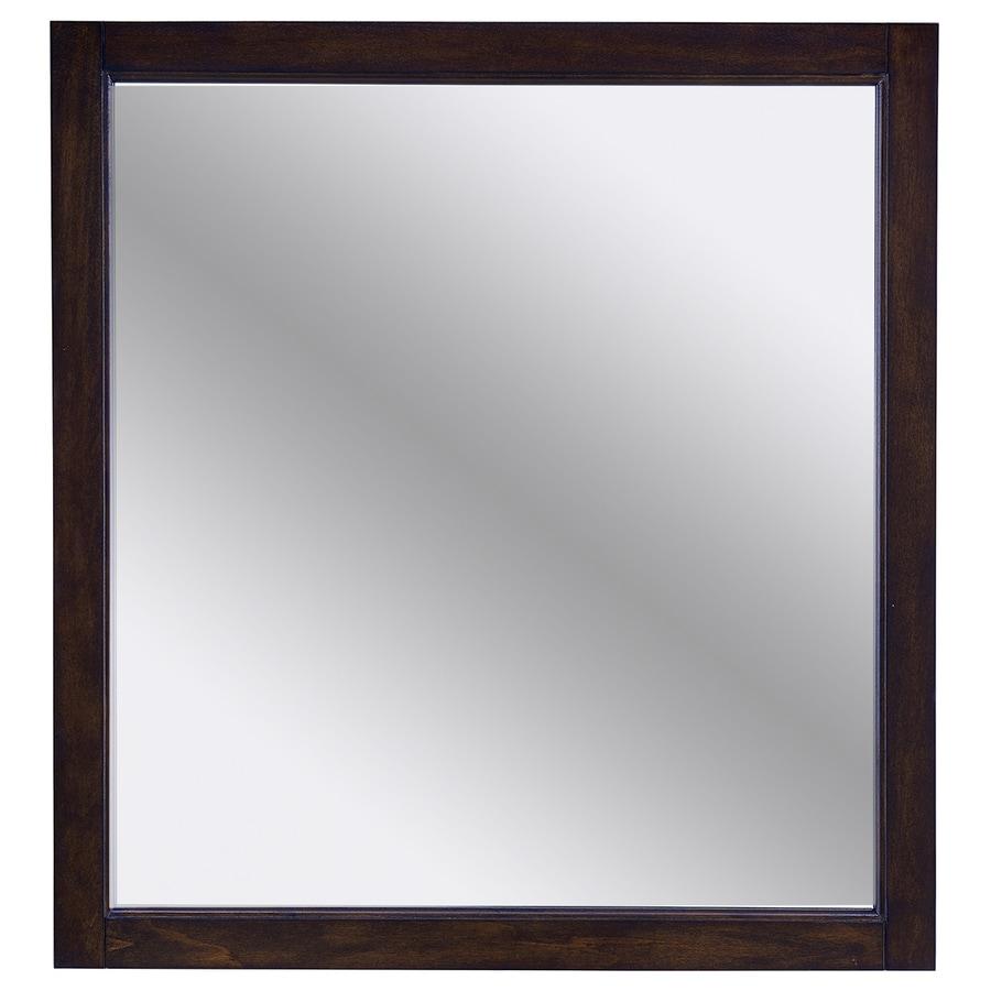 Mahogany Bathroom Mirror: Shop Scott Living Roveland 28-in Mahogany Rectangular