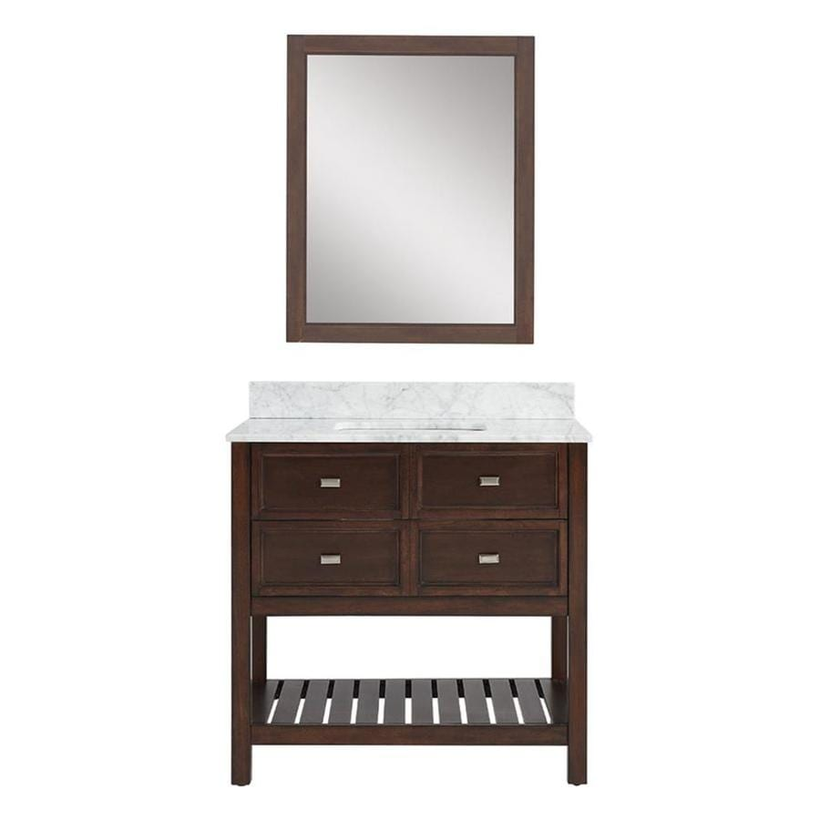 Display Product Reviews For Canterbury Mahogany Undermount Single Sink Bathroom Vanity With Engineered Stone Top