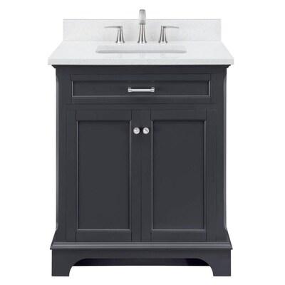 Scott Living Roveland 30 In Dark Gray Single Sink Bathroom Vanity
