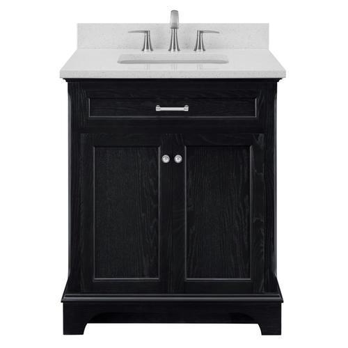 Scott Living Roveland 30 In Black Oak Single Sink Bathroom