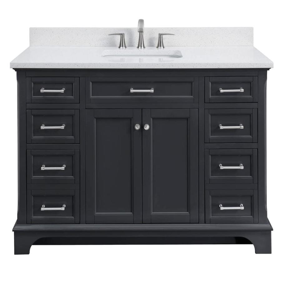 Scott Living Roveland 48 In Dark Gray Single Sink Bathroom